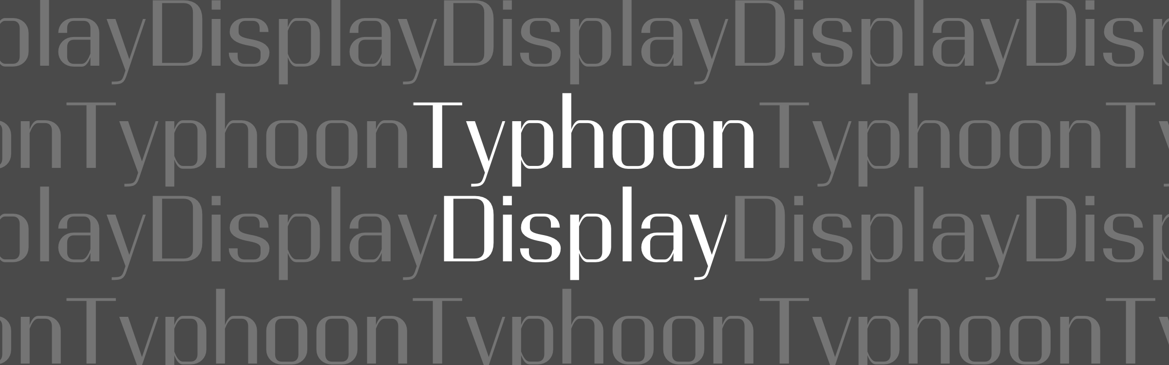 Free Typeface: Typhoon Display Regular