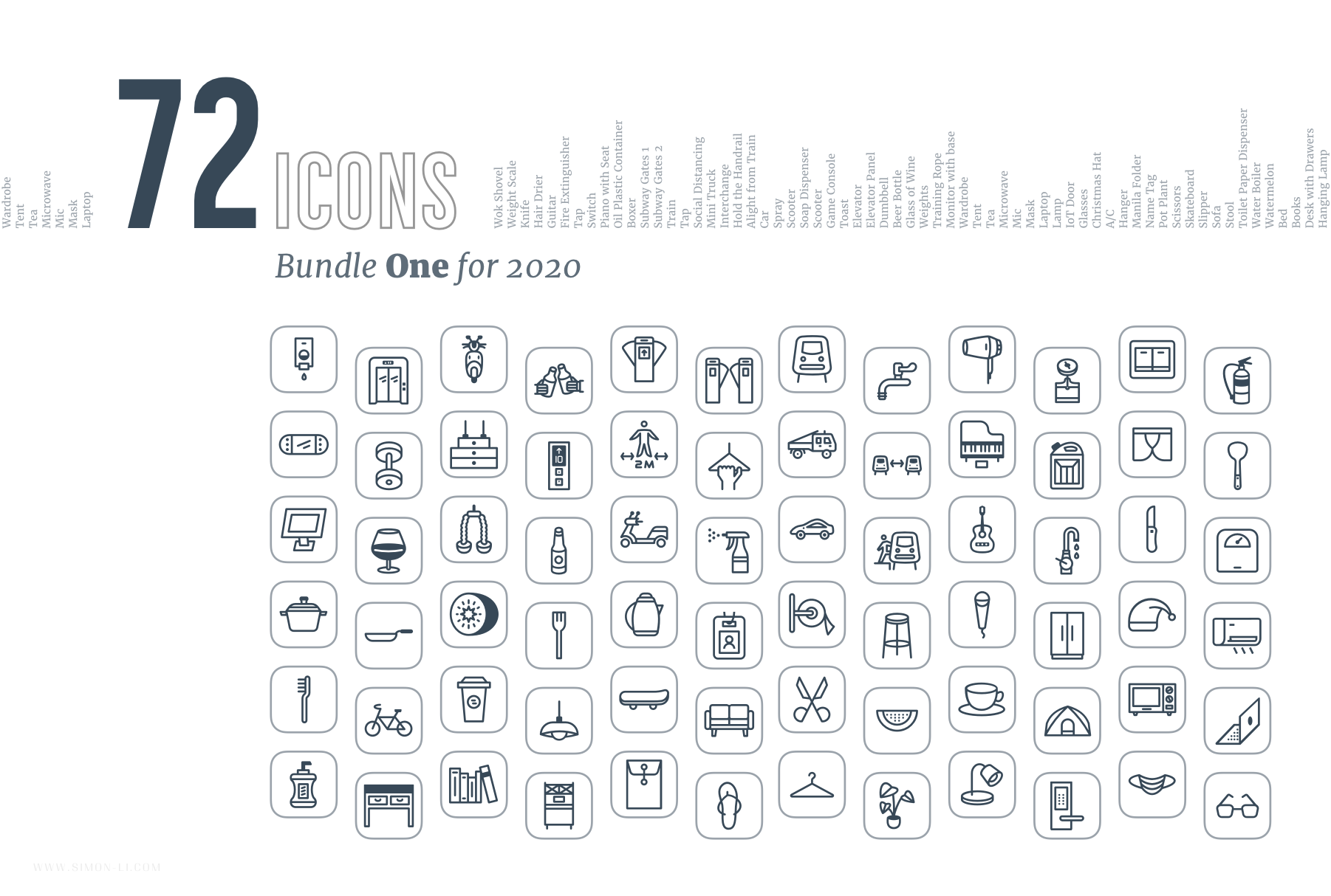 Free Vector Icons – Bundle One for 2020