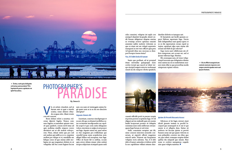 Creating a Magazine Layout - Simon Li's Portfolio