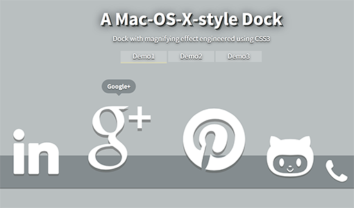 Recreating the Mac-OS-X Dock
