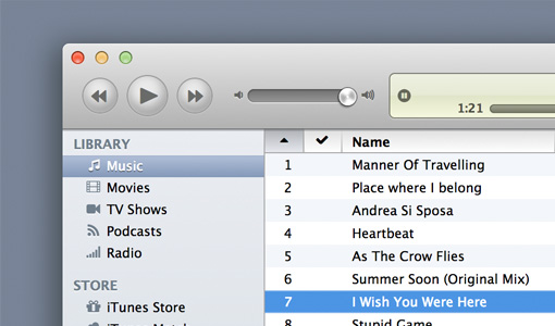 Creating iTunes with HTML5 and CSS3